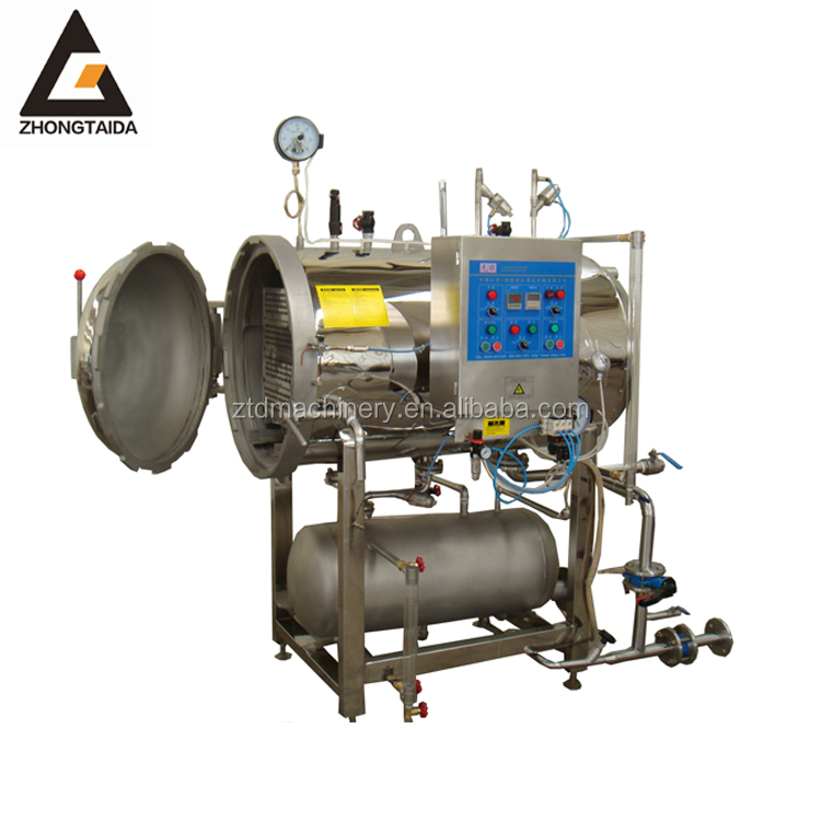 Automatic High Pressure Food Processing Equipment Full Water Spray Sterilizing/Bottle Drinks Sterilizer Retort Autoclave machine