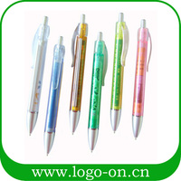 Wholesale plastic retractable banner ball pen with printing logo