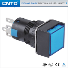 CNTD Most Popular Products Mechanical Square Push Button Switch With Light