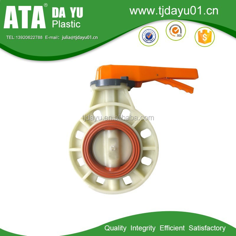 2015 NEW Best sale factory direct pp polypropylene butterfly valve handle manual type