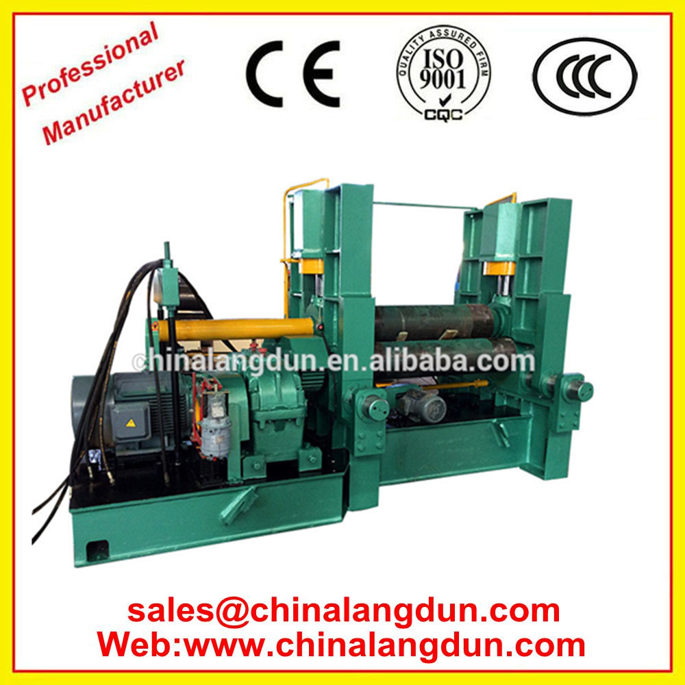 High Efficiency <strong>W11S</strong> 16*2500mm CNC hydraulic3 Roll Plate Bending Machine