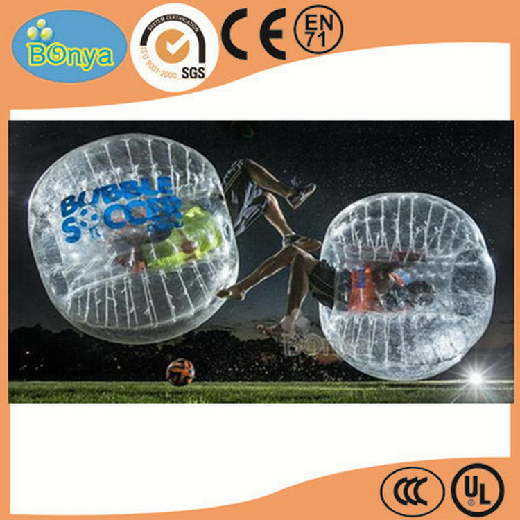 New hot fashion super quality inflatable body zorb ball/bubble soccer