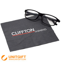 Custom printed microfiber cleaning cloth for glasses