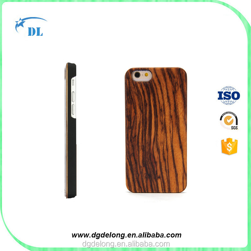 Dongguan Supplier Zebra Wood Mobile Phone Case for Apple iPhone 6 6s