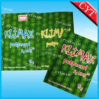 Klimax potpourri by max potpourri bag 10g/Various flavors printing small zipper bag