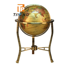 large size stand 63cm brass earth globe for deluxe office decoration
