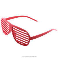 Neon Slotted Frame Party Rave Shutter Glasses