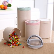 Storage Jars Type and Food Use bamboo fiber plastic container with lid