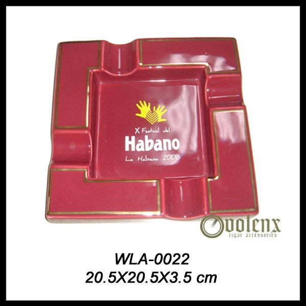 Customer Logo Printed Dubai Smokeless Ceramic Ashtray