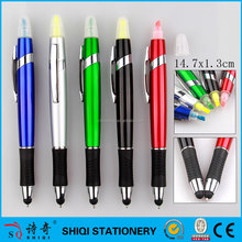 Chinese colorful smooth writing touch screen pen with highlighter