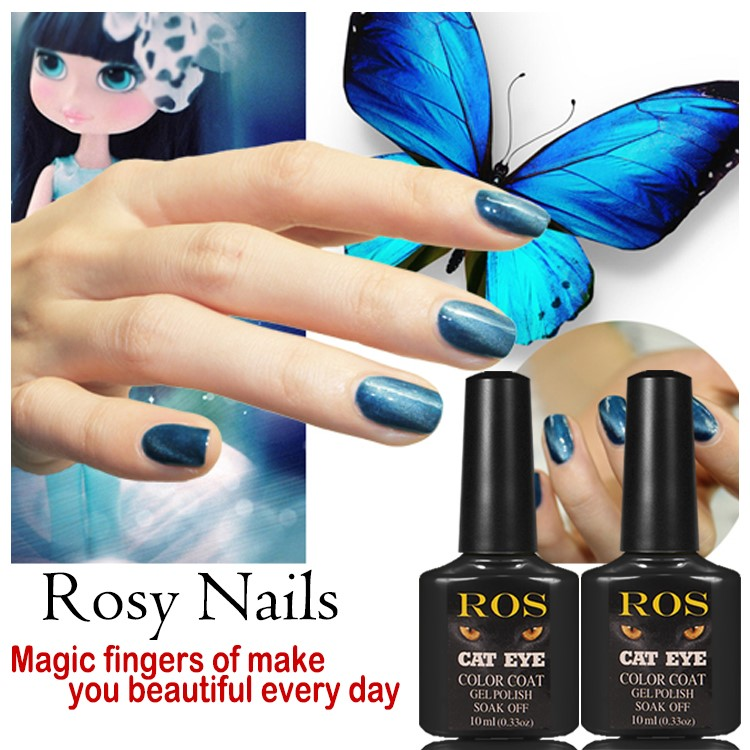 Hot Sale 10pcs/lot Nail Art Shining Color Magnetic Nails Chameleon ...