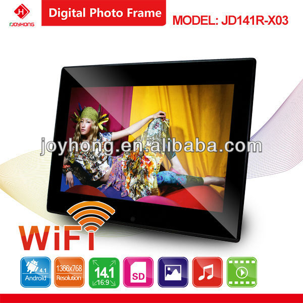 "Hottest 14.1"" Wifi Digital Photo Frame Android 4.1"