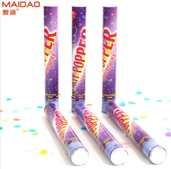 Hot sale Golden party poppers for celebration