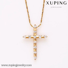 31733-Xuping Religious jewellery image of gold jesus cross pendant