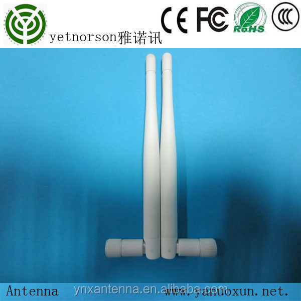 manufactory rubber duck 2.4G 5dbi white color omni indoor wifi antenna