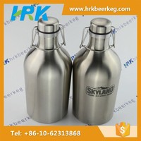 2000ml/64oz swing top glass bottles with stoppers