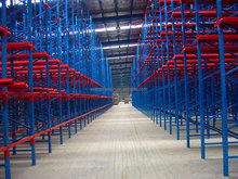 Drive in pallet racking for storing large quantity of similar pallets