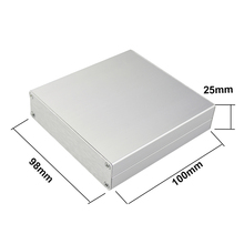 25*98*100 mm hit diy electronical design aluminum cabinet modern power supply wire drawing aluminum case pcb design box