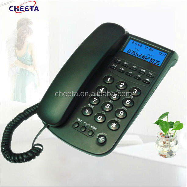 analog display telephone with address and telephone numbers
