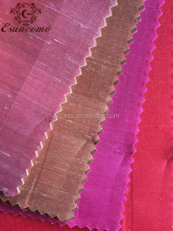 100% nature silk dupioni fabric for chair and other home textile