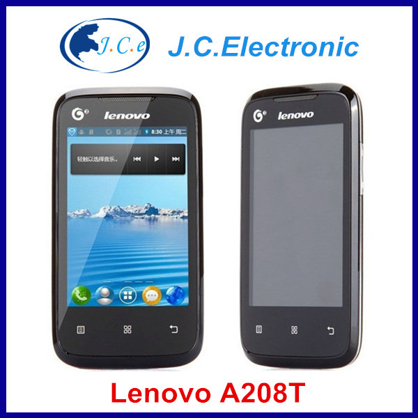 Cheap 3.5 inch Lenovo A208T GSM Android Smartphone WIFI 2MP Camera Mobile Phone Russian Spanish Italian German