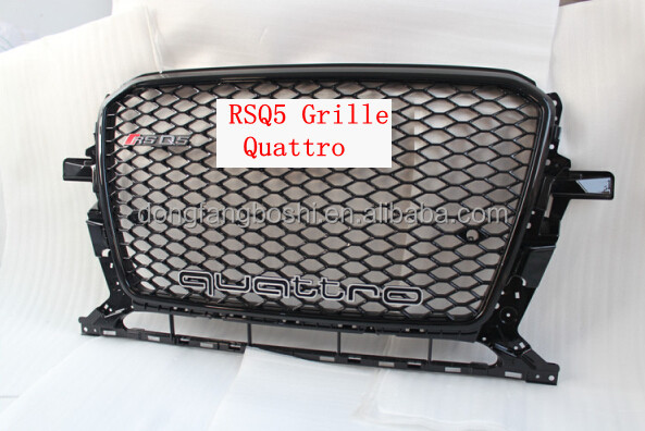 for audi Q5 RSQ5 Front Center Grille for Q5 2.0 3.2 TFSi 3.0 TDi hybrid quattro logo grille