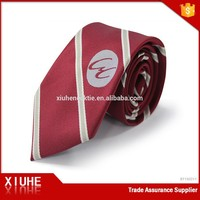 OEM cheap custom print made Logo silk tie