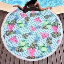 2019 Hot <strong>Sale</strong> Printed Round Beach Towel <strong>For</strong> Women High End Beach Towels