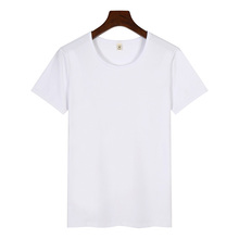 Men custom logo 95 cotton 5 spandex blank designer tshirts