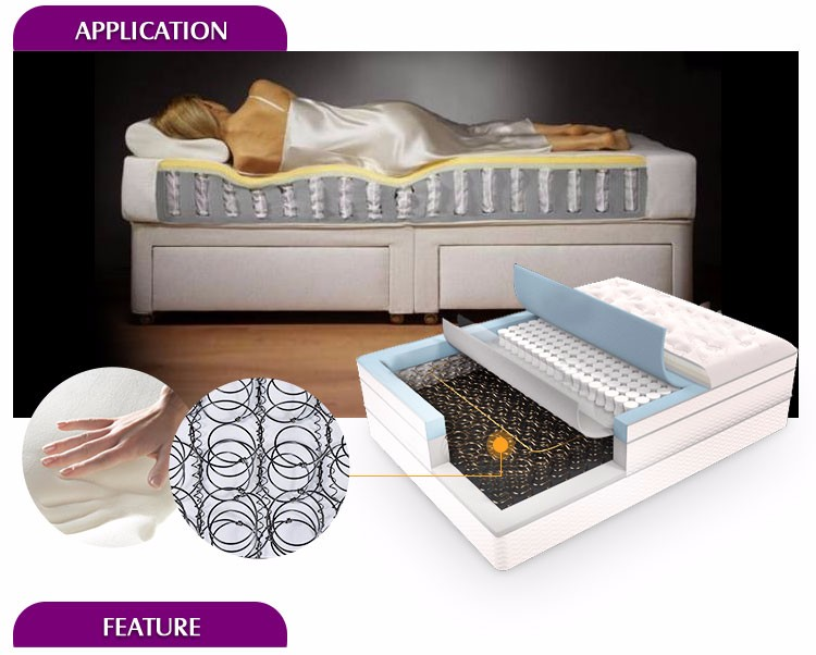 Carbon steel wire Non woven pocket spring for mattress