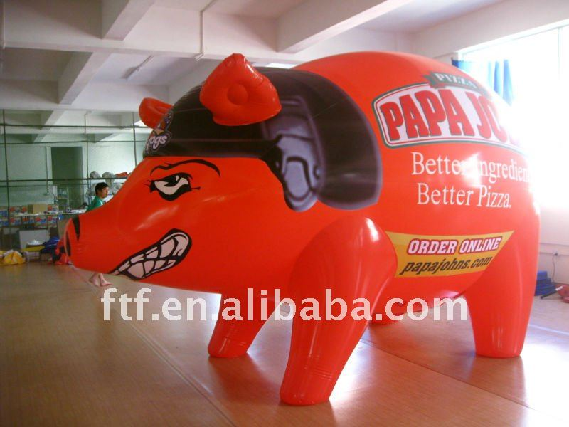 pvc giant inflatable pig