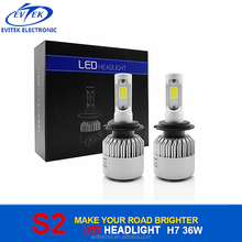 2017 Latest 9V-36V 4000Lm 6000K Led S2 H7 Headlight For Auto Motorcycles light High Power Led Headlight