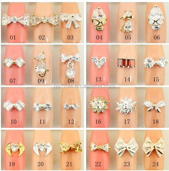 fashionable 3D metal bow nail art decoration