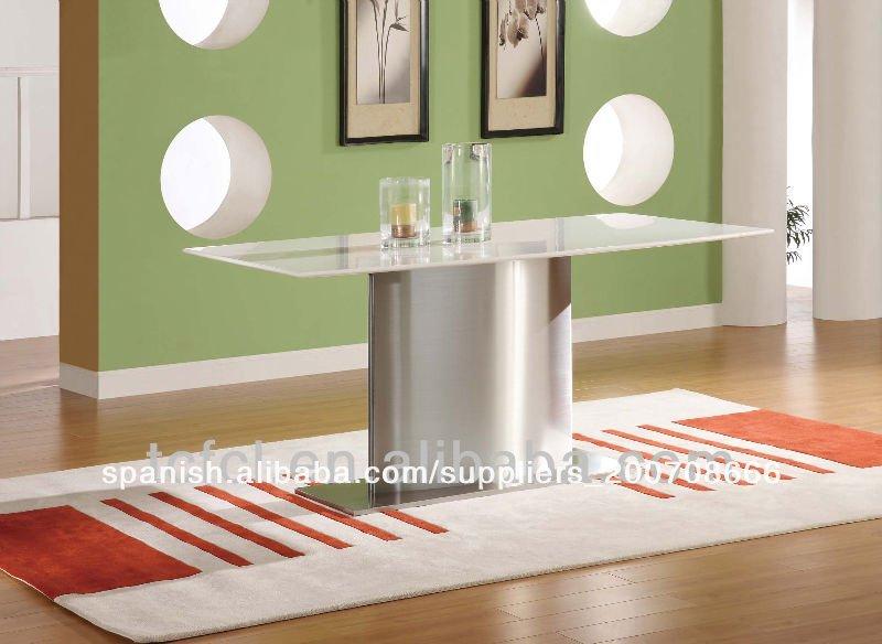 Sencillo y moderno de cristal de m rmol blanco de mesa de for Marmol blanco cristal