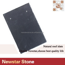 Pre-drilled Rectangle Dark Black Slate For Roofing Prices