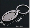Wholesale oval blank rotatable metal key chain/Rotatable oval zinc alloy key chain