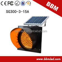 12inch blinking led solar traffic lights