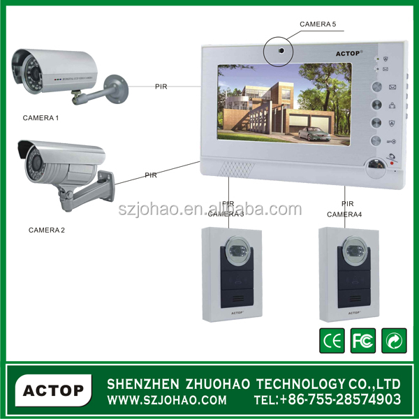 ACTOP 7 Inch Touch Screen Apartment Intercom Systems For Smart Home