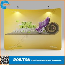 Portable aluminum tension fabric frame banner trade show display walls