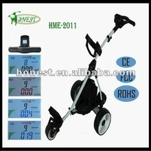 2015 Newest model Electric Golf Trolley Golf Caddy Golf Car with Colorful LCD Display HME-2011