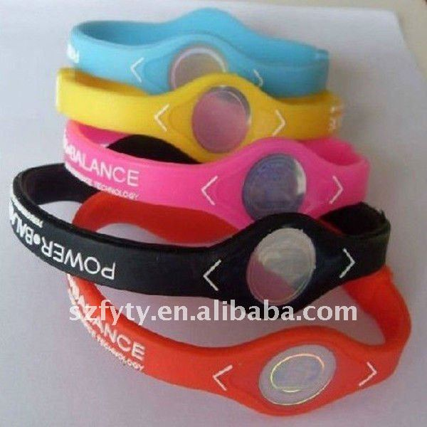 Wholesale silicone rubber bracelets silica gel wristband