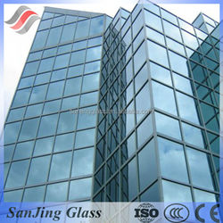 4+0.38+4 colored pvb laminated safety glass panles price with iso for building