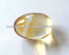 Natural Yellow Color Citrine Plain Egg Shape Loose Stone