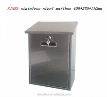 Stainless Steel Wall Mounted Mail Box