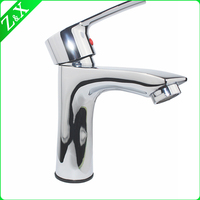 chrome polished european design modern style single lever basin mixer / faucet