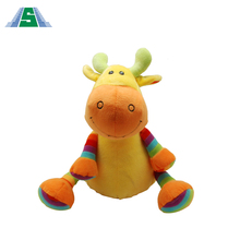 100% POLYESTER animal plush stuffed colorful kid toy