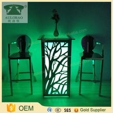 LED light led light up glass bar table and chairs used glowing led bar table