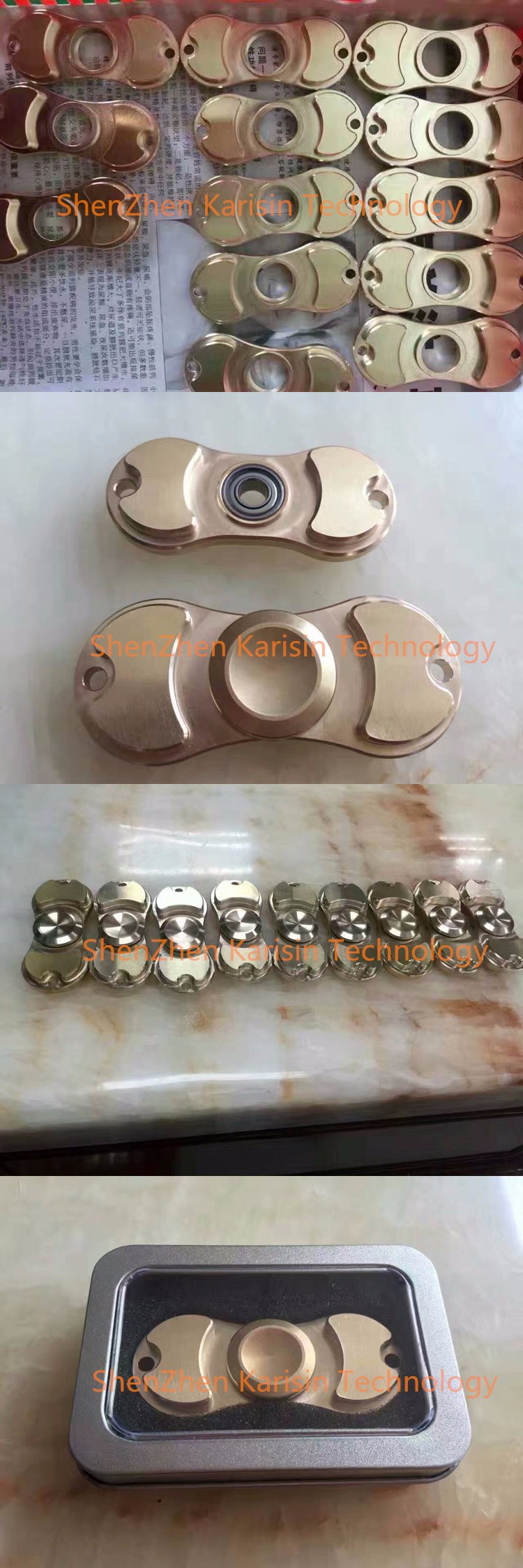 2017 top quality Zinc alloy fidget toy handspinner with long time spin