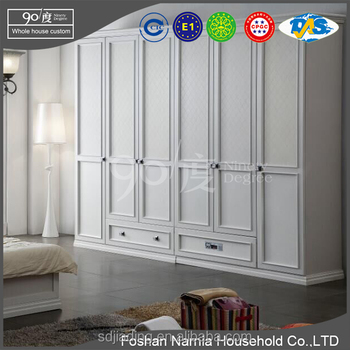 Ninety Degree 6 Door Closet Storage Solid Wood Closet
