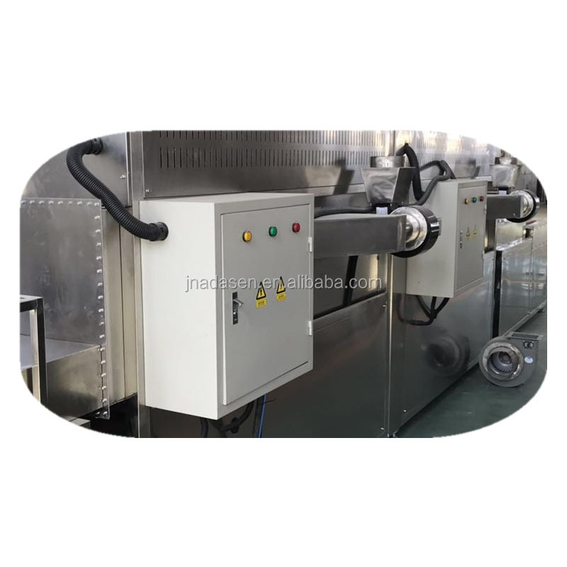 Conveyor belt microwave drying machine for prickly ash